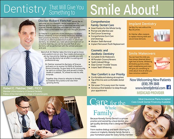 Kenedy Dental Marketing Flyer  Molten Graphics